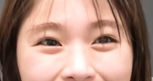 渋谷凪咲の目は二重だった